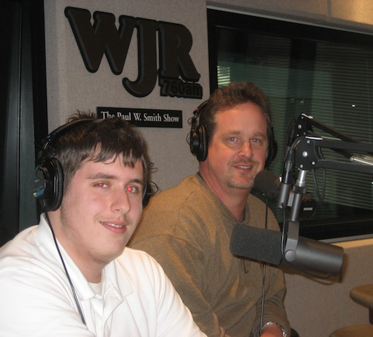 Chris and Justin Beale at WJR 4-09 001