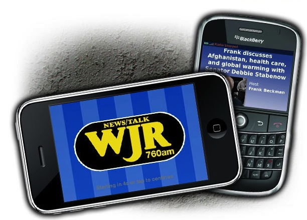 WJR App for iPhone and Blackberry