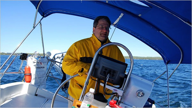 Capt. Ron Stefanski of the Tres Joli 38' Beneteau Class Sailboat