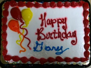Gary Baker Birthday Cake