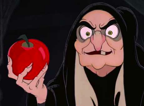 Witch with Apple